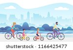 active family outside vacation... | Shutterstock .eps vector #1166425477
