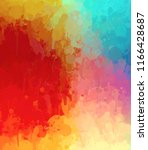multicolored splash watercolor... | Shutterstock . vector #1166428687