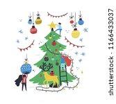 group of little people... | Shutterstock .eps vector #1166433037