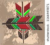indigenous tool arrows vector | Shutterstock .eps vector #1166445871