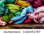 multicolor threads for... | Shutterstock . vector #1166451787