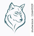 wolf head   vector illustration | Shutterstock .eps vector #116645329