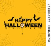 happy halloween party trick or... | Shutterstock .eps vector #1166455537