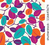 colorful leaves vector pattern | Shutterstock .eps vector #116645674