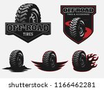set of off road tire service... | Shutterstock .eps vector #1166462281