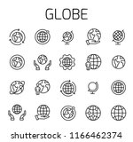 globe related vector icon set.... | Shutterstock .eps vector #1166462374
