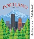 Portland Oregon City Downtown...