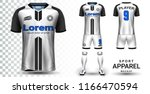 soccer jersey and football kit... | Shutterstock .eps vector #1166470594