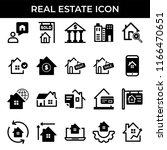 real estate icon set   Shutterstock .eps vector #1166470651