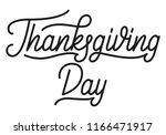 thanksgiving day. thanksgiving... | Shutterstock .eps vector #1166471917
