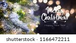 christmas tree background and... | Shutterstock . vector #1166472211