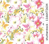 floral pattern in vector | Shutterstock .eps vector #1166472634