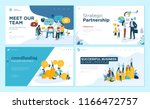 set of web page design... | Shutterstock .eps vector #1166472757