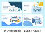 set of web page design... | Shutterstock .eps vector #1166473384