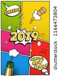 2019 new year postcard or... | Shutterstock .eps vector #1166473804