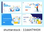 set of web page design... | Shutterstock .eps vector #1166474434