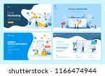 set of web page design... | Shutterstock .eps vector #1166474944