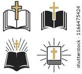religious community. set of...   Shutterstock .eps vector #1166475424