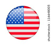 the usa flag in the form of a... | Shutterstock . vector #116648005