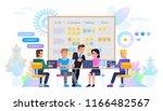 business meeting concept.... | Shutterstock .eps vector #1166482567
