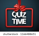 quiz time blue sign with red... | Shutterstock .eps vector #1166488651