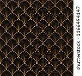 vector art deco style seamless... | Shutterstock .eps vector #1166494147