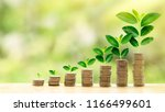 a concept of investment growth... | Shutterstock . vector #1166499601