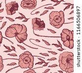 poppies decorative graphic...   Shutterstock .eps vector #1166506897