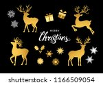 collection of gold  christmas ... | Shutterstock .eps vector #1166509054