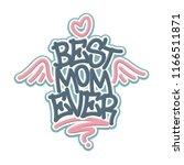 best mom ever tag graffiti...   Shutterstock .eps vector #1166511871