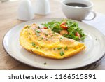 Cheese Omelet and Salad
