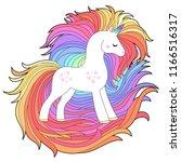 rainbow unicorn  cute ... | Shutterstock .eps vector #1166516317
