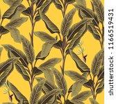 tropical vintage banana trees... | Shutterstock .eps vector #1166519431