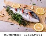 fresh dorado fish. dorado and... | Shutterstock . vector #1166524981