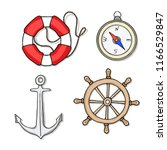 vector set with isolated anchor ...   Shutterstock .eps vector #1166529847