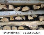 closeup photograph of neatly... | Shutterstock . vector #1166530234