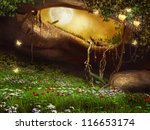 Enchanted Cave With Flowers ...