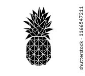 pineapple ananas icon vector... | Shutterstock .eps vector #1166547211