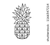 pineapple ananas icon vector... | Shutterstock .eps vector #1166547214