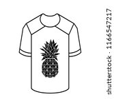 pineapple ananas icon vector... | Shutterstock .eps vector #1166547217