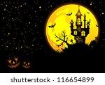 halloween background with bat ... | Shutterstock . vector #116654899