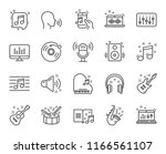 music line icons. set of... | Shutterstock .eps vector #1166561107