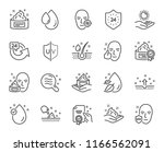 skin care line icons. set of... | Shutterstock .eps vector #1166562091
