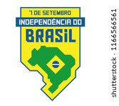 brazil independence badge ... | Shutterstock .eps vector #1166566561