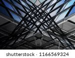 abstract modern architecture.... | Shutterstock . vector #1166569324