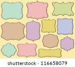 hand drawn frames on pastels. | Shutterstock .eps vector #116658079