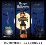halloween banner set. halloween ... | Shutterstock .eps vector #1166588311