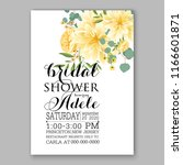 chrysanthemum wedding... | Shutterstock .eps vector #1166601871