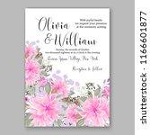 chrysanthemum wedding... | Shutterstock .eps vector #1166601877