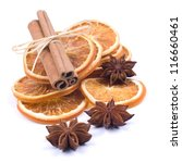 christmas spices on white ground | Shutterstock . vector #116660461